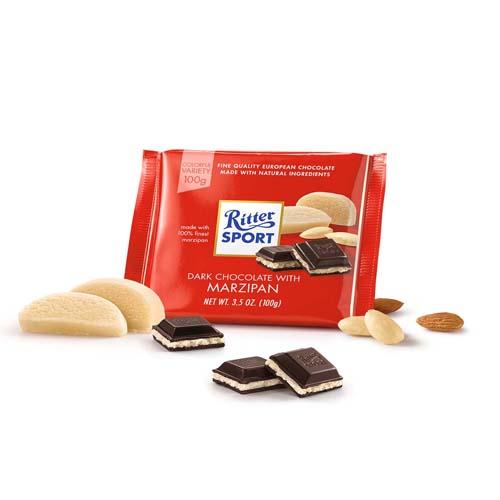 Ritter Sport Dark Chocolate With Marzipan Yummygift